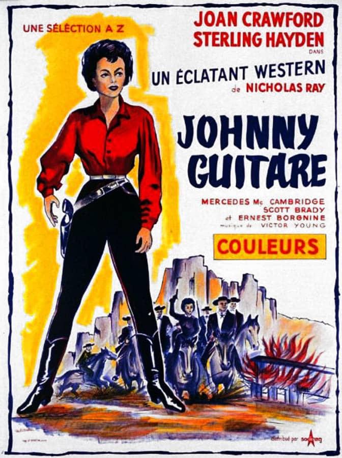 Johnny Guitare, affiche France par Deflandre