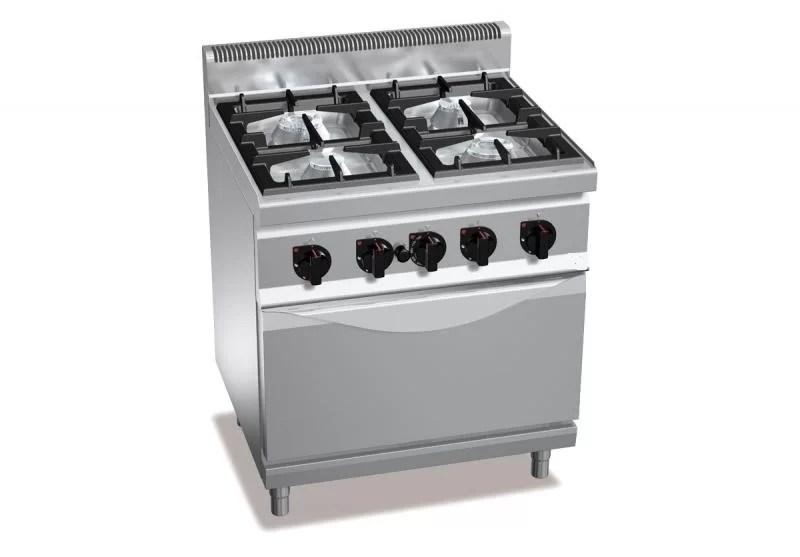 Cucina a Gas 4 Fuochi e Noleggio Cucine Mobili  CINEFACILITY
