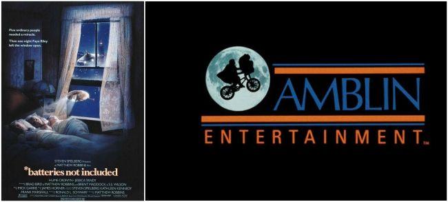 Productora Amblin y Cartel Nuestros maravillosos aliados (1987)