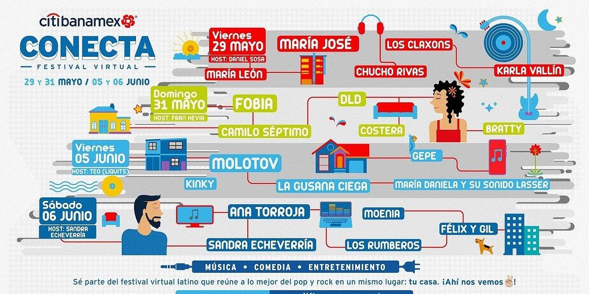 OCESA y Citibanamex presentan el primer festival musical virtual gratuito de rock y pop latino