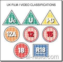 تصنيفات الافلام بناء على الهيئة البريطانية للتصنيف