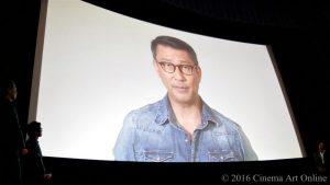 映画『幸福のアリバイ~Picture~』完成披露試写会 舞台挨拶 (中井貴一 ビデオメッセージ)