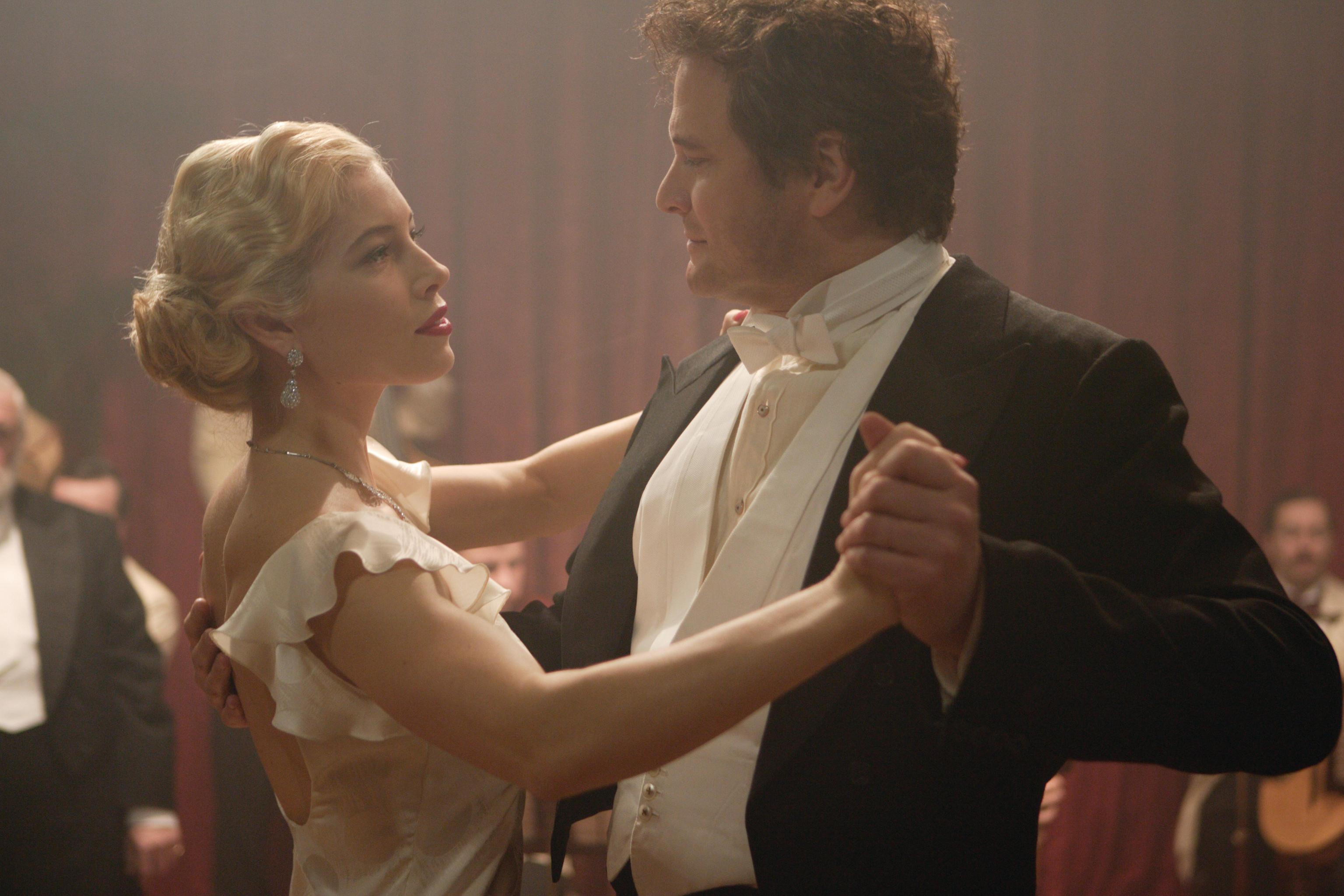 Larita (Jessica Biel) and Mr Whittaker (Colin Firth)
