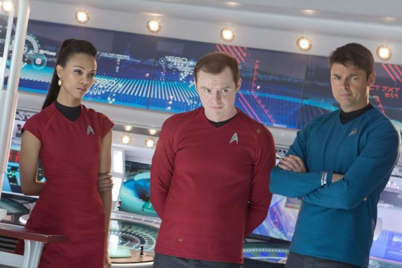Uhura + Scott + Mc Coy