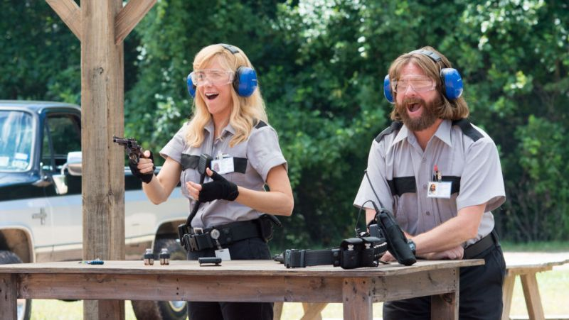 """M233 Kristen Wiig and Zach Galifianakis star in Relativity Media's upcoming release, """"Masterminds""""...Credit: Glen Wilson.Copyright: ? 2014 Armored Car Productions, LLC"""