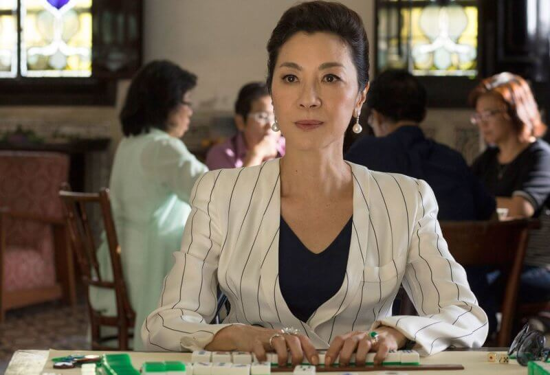 """MICHELLE YEOH as Eleanor in Warner Bros. Pictures' and SK Global Entertainment's and Starlight Culture's contemporary romantic comedy """"CRAZY RICH ASIANS,"""" a Warner Bros. Pictures release."""