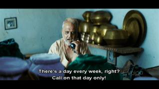 Appadaasu on the phone