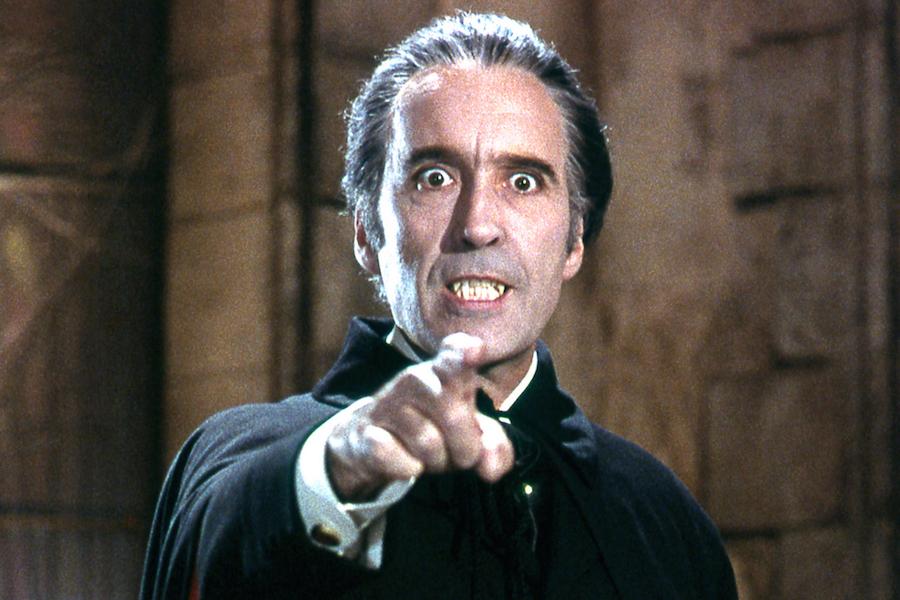 Sir Christopher Lee (Dracula, 1958)