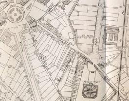 Plan des alentours de la rue d'Auxonne (1885)