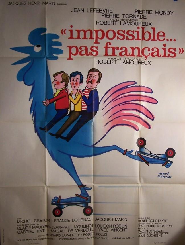Impossible... Pas Français : impossible..., français, Affiche, IMPOSSIBLE, FRANCAIS, CINEMAFFICHE