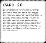 Inkblot Test Card 20 Answer