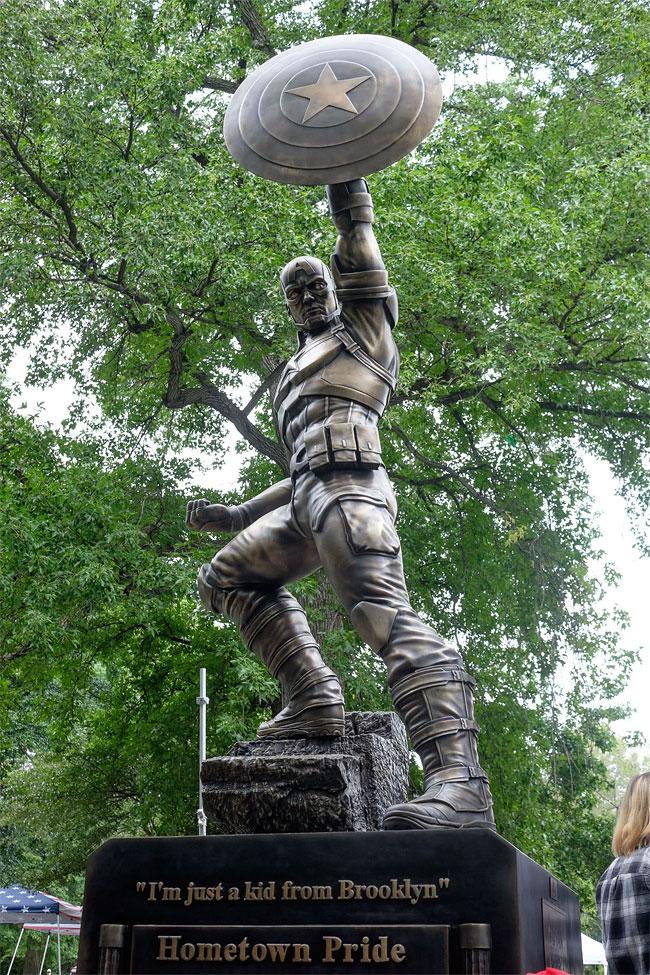 Captain America Statue In Brooklyn Ny