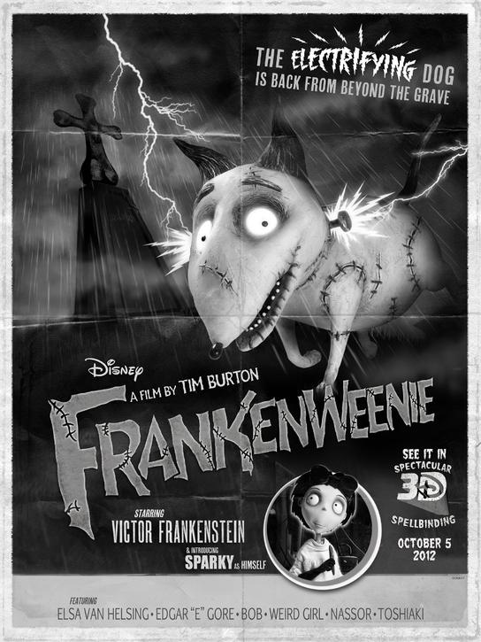 Movie Review Tim Burton S Frankenweenie Cinema Lowdown
