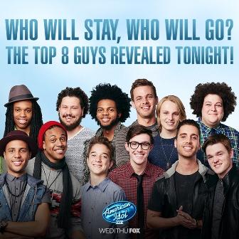 American Idol 14 top 8 guys r
