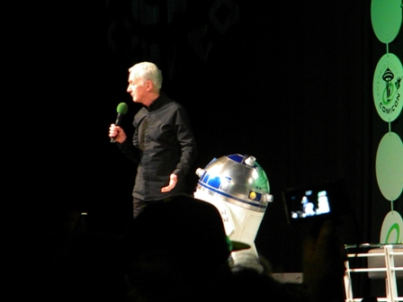 Anthony Daniels with R2-D2
