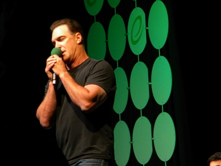 Patrick Warburton ECCC 2015 mic