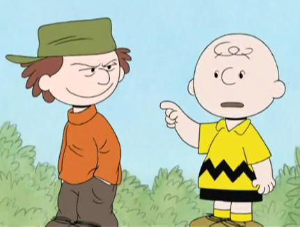 hes a bully charlie brown image
