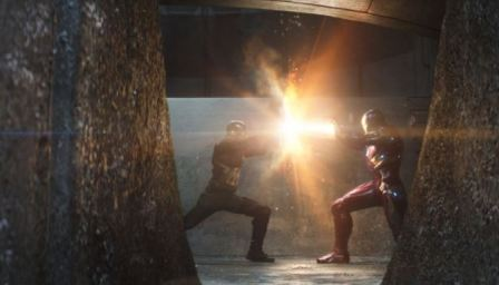 Civil War Cap and Iron Man