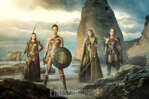 isa Loven Kongsli, Gal Gadot, Connie Nielsen y Robin Wright - Wonder Woman