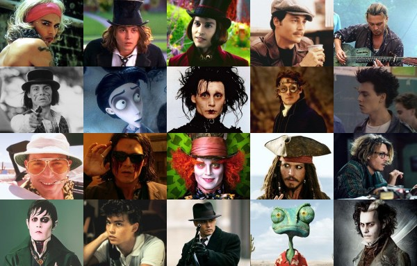 Johnny Depp Different Characters