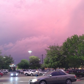 Texas storms welcome me back.