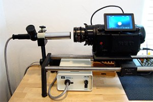 Checking FFD of Red One camera on Collimator