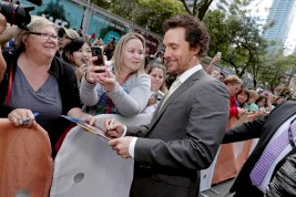 """Matthew McConaughey seen at Universal Pictures """"Sing"""" at the 2016 Toronto International Film Festival on Sunday, Sept. 11, 2016, in Toronto. (Photo by Eric Charbonneau/Invision for Universal Pictures/AP Images)"""