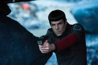 Zachary Quinto plays Spock in Star Trek Beyond from Paramount Pictures, Skydance, Bad Robot, Sneaky Shark and Perfect Storm Entertainment