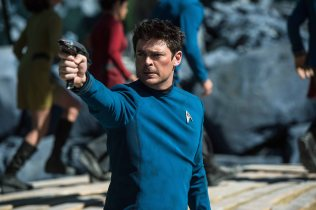 Karl Urban plays Bones in Star Trek Beyond from Paramount Pictures, Skydance, Bad Robot, Sneaky Shark and Perfect Storm Entertainment