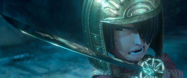 Kubo (voiced by Art Parkinson) proves he's the son of a samurai as he takes on the vengeful Moon King in animation studio LAIKA's epic action-adventure KUBO AND THE TWO STRINGS, a Focus Features release. Credit: Laika Studios/Focus Features
