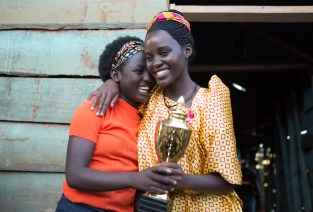Oscar (TM) winner Lupita Nyong'o is Harriet and newcomer Madina Nalwanga is Phiona Mutesi in Disney's QUEEN OF KATWE, the vibrant true story of a young girl from the streets of rural Uganda whose world rapidly changes when she is introduced to the game of chess. Newcomer Madina Nalwanga also stars in the film, directed by Mira Nair.