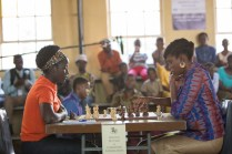 Madina Nalwanga stars as Phiona Mutesi in Disney's QUEEN OF KATWE, based on the true story of a young girl from Uganda whose world changes when she is introduced to the game of chess. Directed by Mira Nair, the film also stars Oscar (TM) winner Lupita Nyong'o and David Oyelowo.