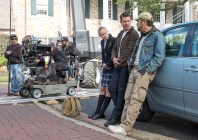 Left to right: Danika Yarosh, Tom Cruise and Director Edward Zwick on the set of Jack Reacher: Never Go Back from Paramount Pictures and Skydance Productions