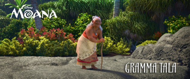 "RACHEL HOUSE (""Whale Rider,"" ""Hunt for the Wilderpeople"") voices GRAMMA TALA, Moana's confidante and best friend, who shares her granddaughter's special connection to the ocean. ©2016 Disney. All Rights Reserved."