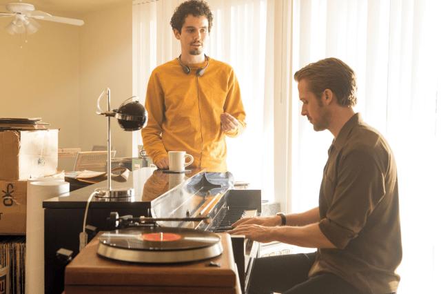 La La Land Set Damien Chazelle Ryan Gosling