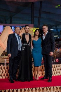Chuck Roven, Gal Gadot, Patty Jenkins y Chris Pine