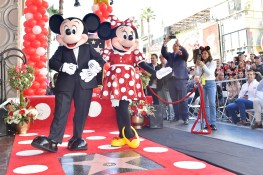 LOS ANGELES, CA - JANUARY 22: Minnie Mouse Receives Star on Hollywood Walk of Fame in Celebration of her 90th Anniversary at El Capitan Theatre on January 22, 2018 in Los Angeles, California. (Photo by Stefanie Keenan/Getty Images for Disney )