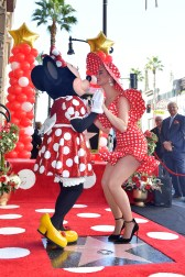 LOS ANGELES, CA - JANUARY 22: Katy Perry attends ceremony for Minnie Mouse as she receives Star on Hollywood Walk of Fame in Celebration of her 90th Anniversary at El Capitan Theatre on January 22, 2018 in Los Angeles, California. (Photo by Stefanie Keenan/Getty Images for Disney )