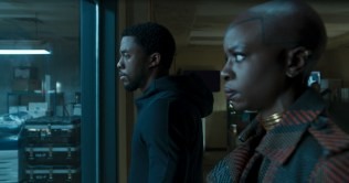 Marvel Studios' BLACK PANTHER L to R: T'Challa/Black Panther (Chadwick Boseman) and Okoye (Danai Gurira) Ph: Film Frame ©Marvel Studios 2018