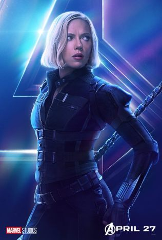 posters individuales avengers infinity war black widow