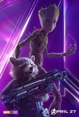 posters individuales avengers infinity war groot rocket racoon