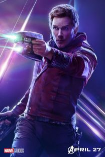 posters individuales avengers infinity war star lord