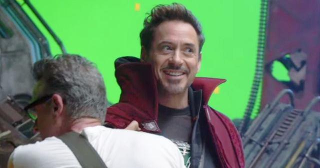 robert downey jr. en el set de avengers infinity war