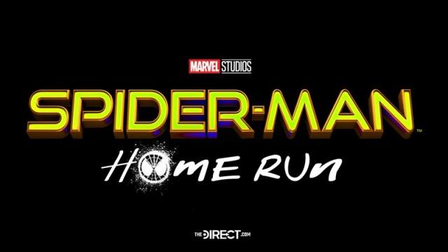 logo título spider man 3 home run