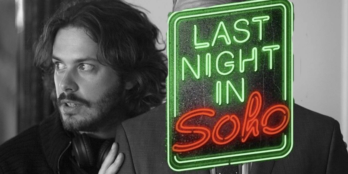 Fotografía de Edgar Wright con el logo de Last Night in Soho