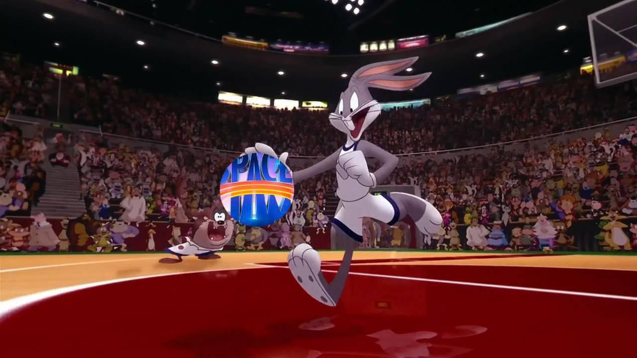 imagen de bugs bunny con logo de space jam 2 a new legacy