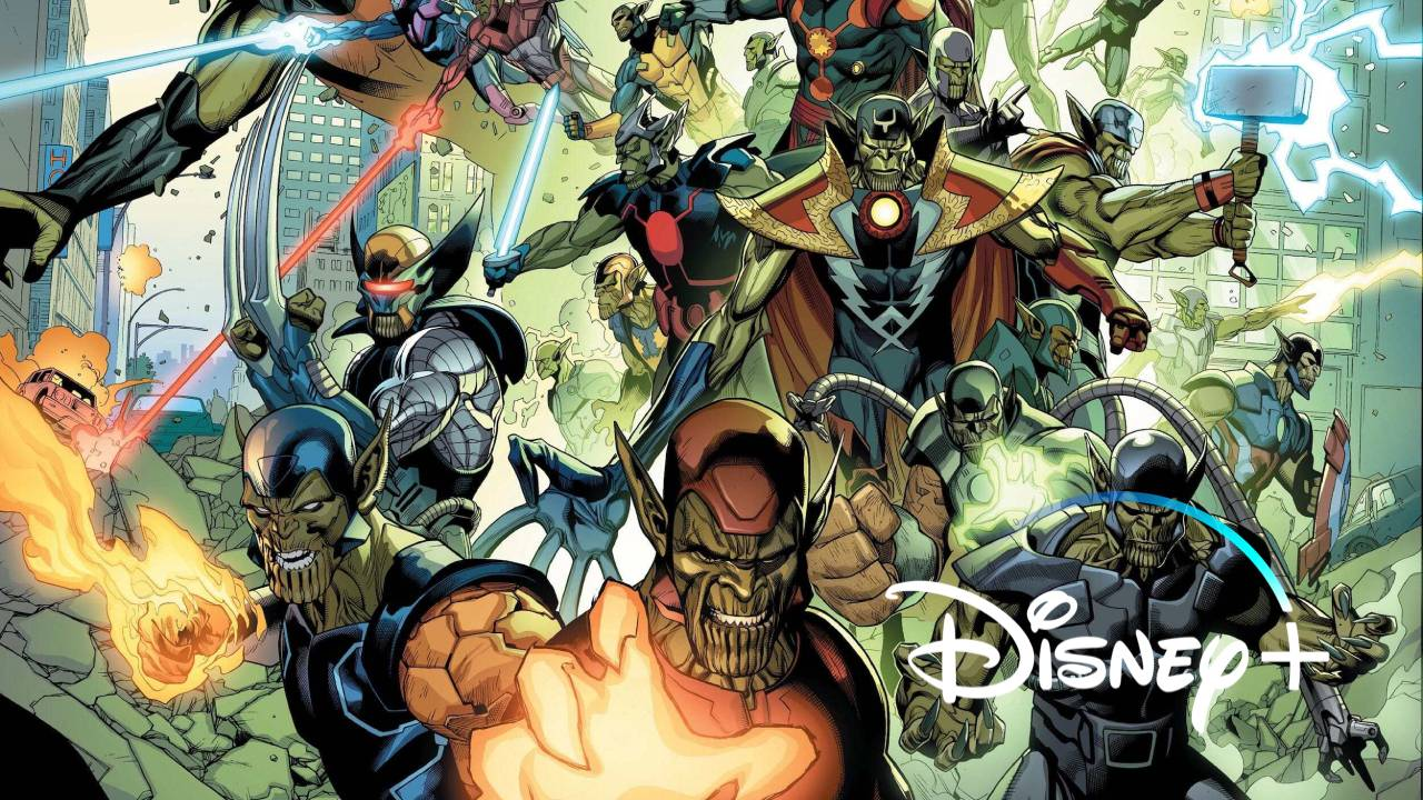 imagen de secret invasion con logo de disney+