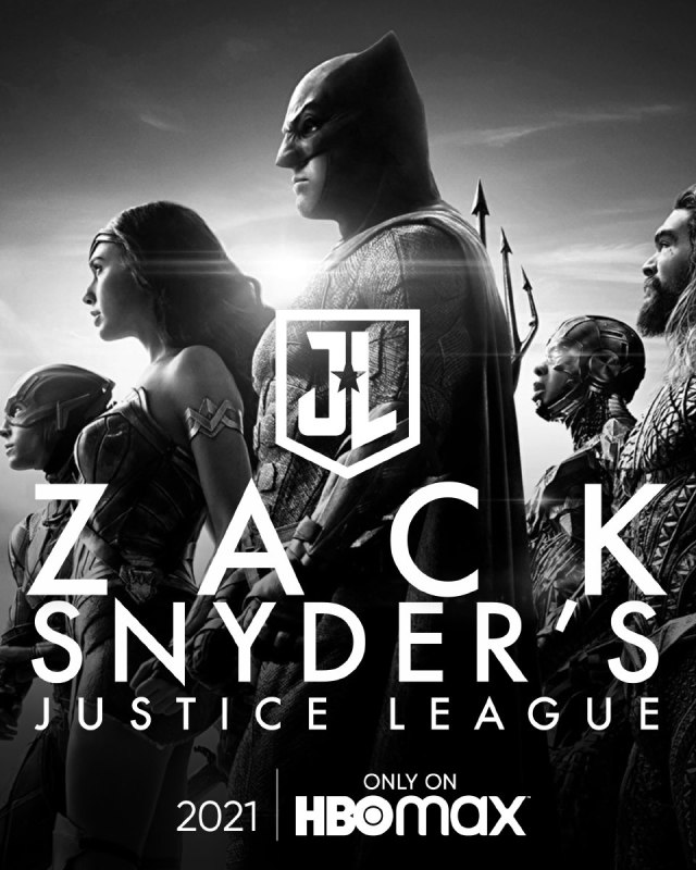 póster oicial snyder cut justice league equipo