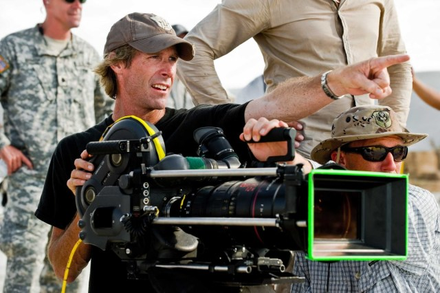 Fotografía de Michael Bay en el set de Transformers