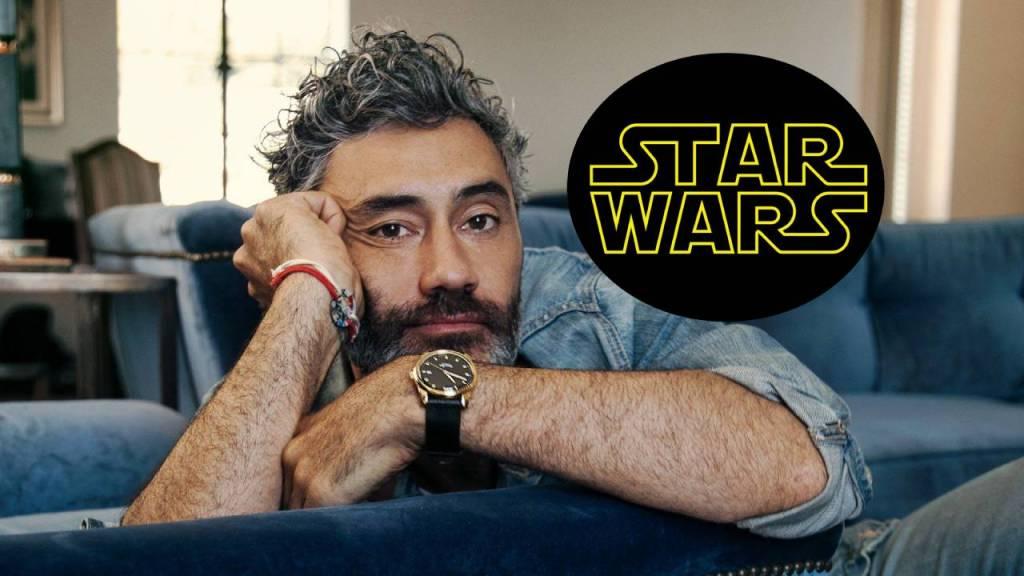 fotografía de taika waititi con logo de star wars
